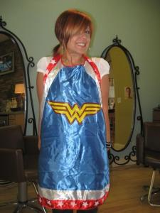 Carla as Wonder Woman....